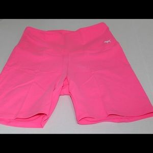 NWT Victoria's Secret Pink Yoga Shorts Neon Pink